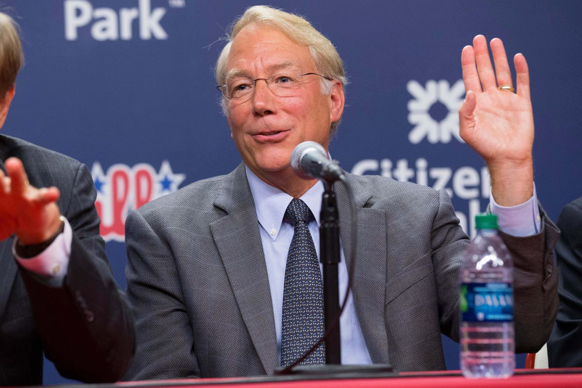 Andy MacPhail raises his hand for the 2016 MLB Draft