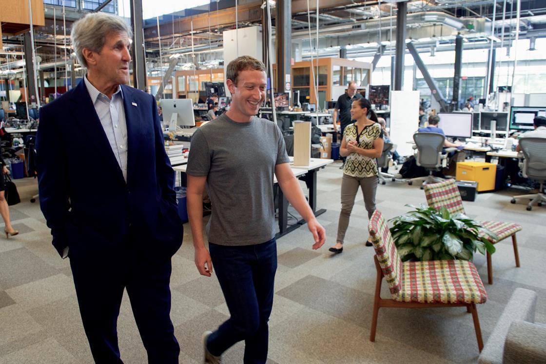 Mark Zuckerberg and John Kerry