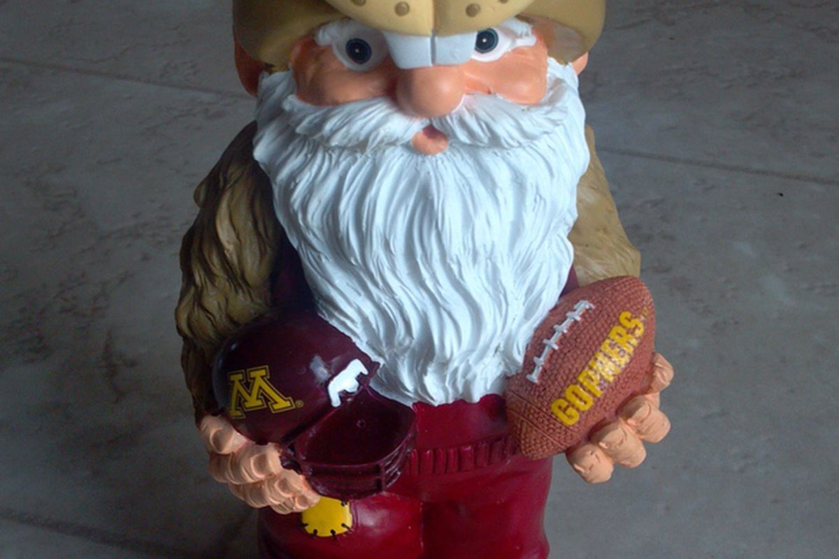 Gopher Gnome found Denard Robinson's earlier than anticipated exit from the Heisman race quite enjoyable.