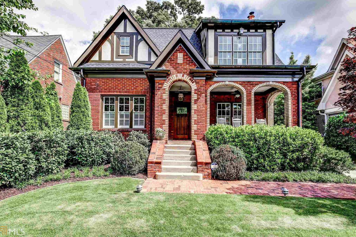 A 1929 Tudor home for sale in Atlanta's Virginia-Highland neighborhood.