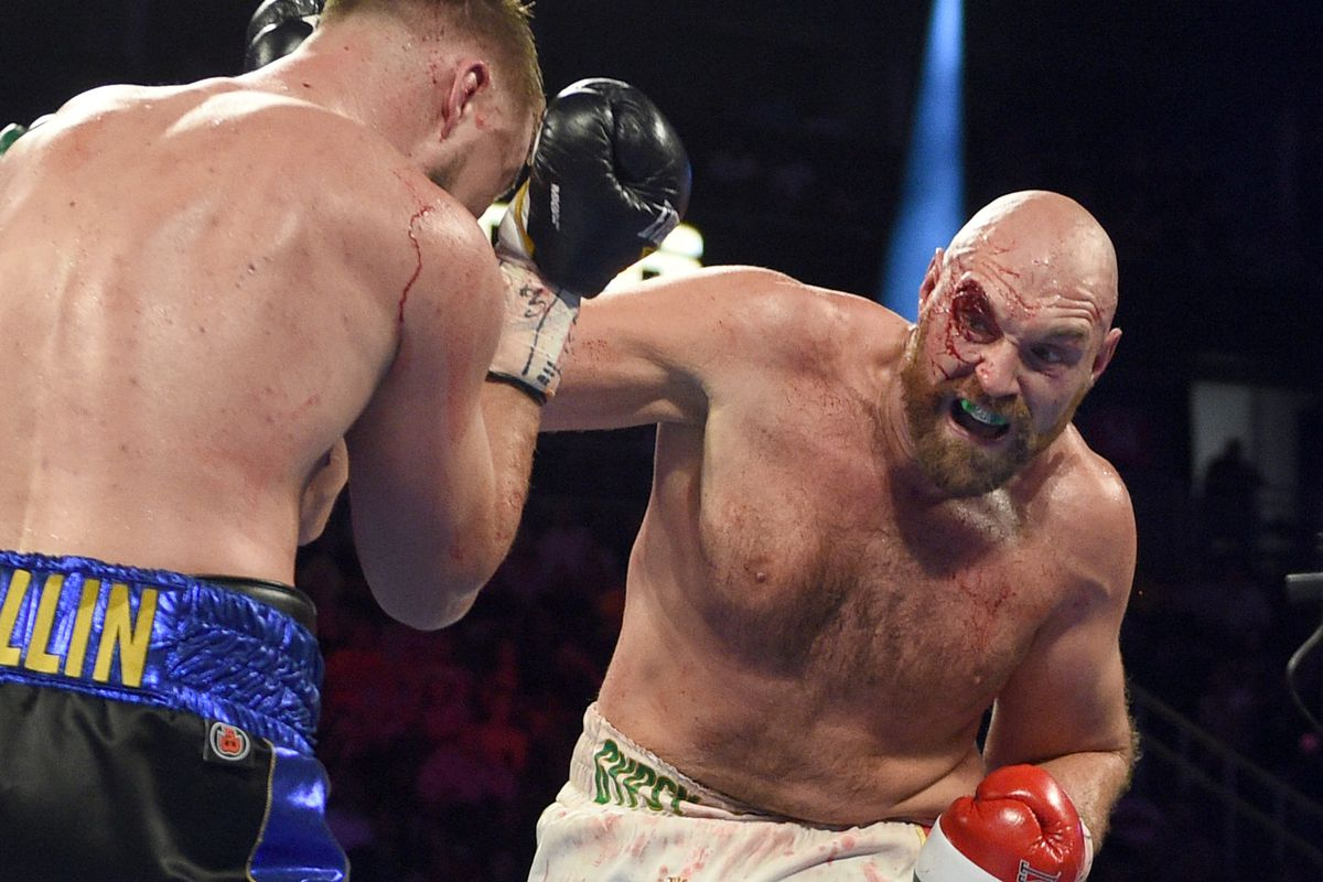 Image result for tyson fury vs wallin