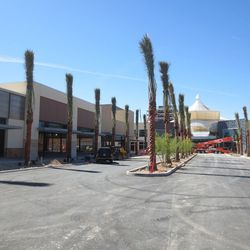 The entrance to Downtown Summerlin from Fashion Plaza Drive, just south of Red Rock Resort.