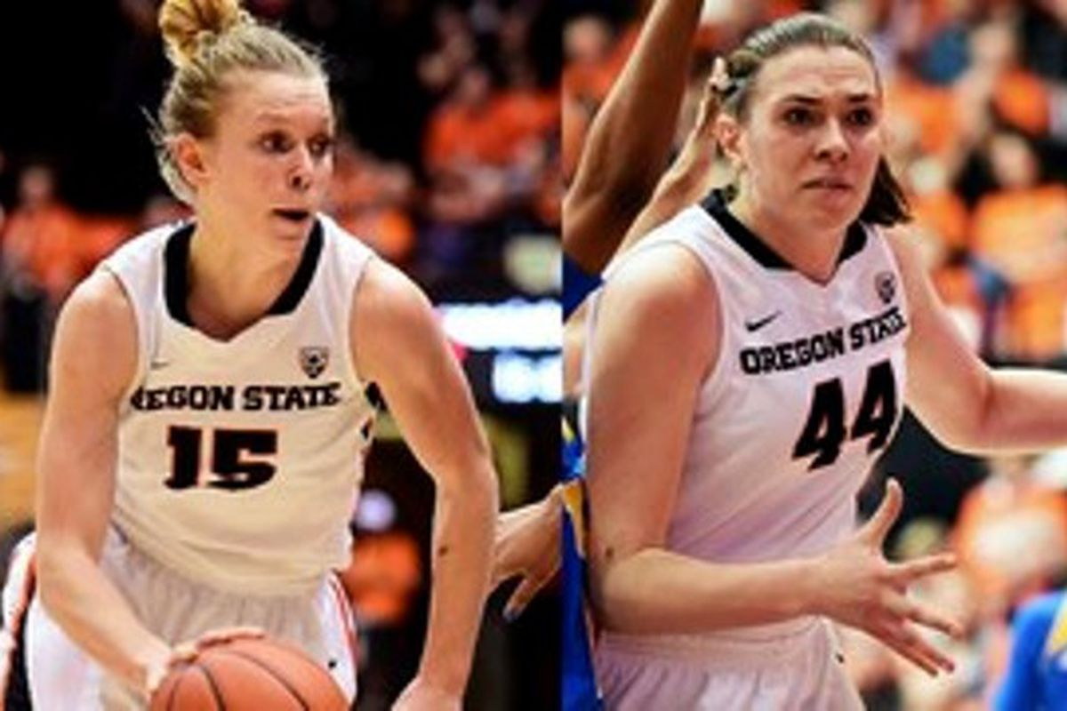 Oregon State's Jamie Weisner and Ruth Hamblin took home the Pac-12 Conference honors.