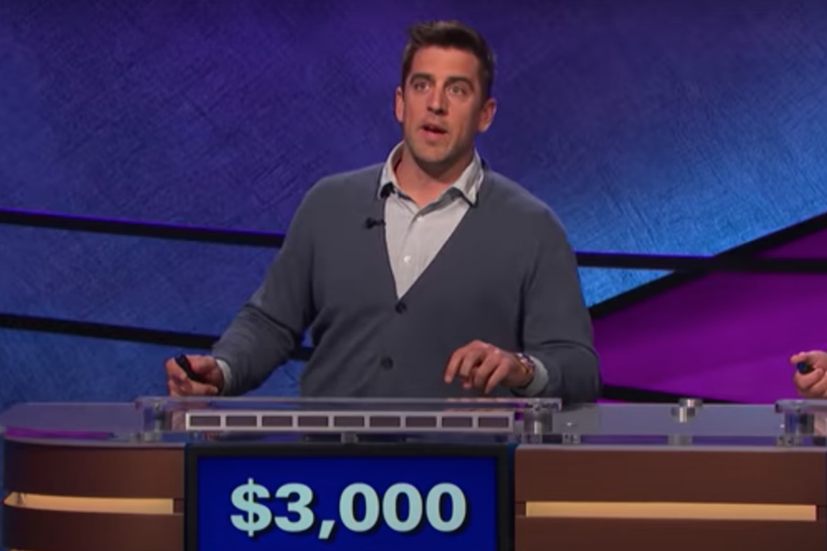 """Former """"Celebrity Jeopardy"""" contestant and Packers quarterback Aaron Rodgers will serve as the show's guest host for two weeks beginning Monday."""