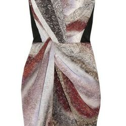"""<b>Peter Pilotto</b> printed crepe de chine dress, <a href=""""http://www.theoutnet.com/product/234255"""">$285</a> (was $1,895)."""