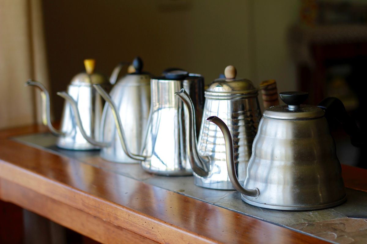 Coffee pour-over kettles.