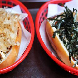 """Okonomi & Spicy Cheese Terimayp from JAPA Dogs by <a href=""""http://www.flickr.com/photos/bradleyhawks/8062527750/in/pool-eater/"""">Amuse * Bouche</a>"""