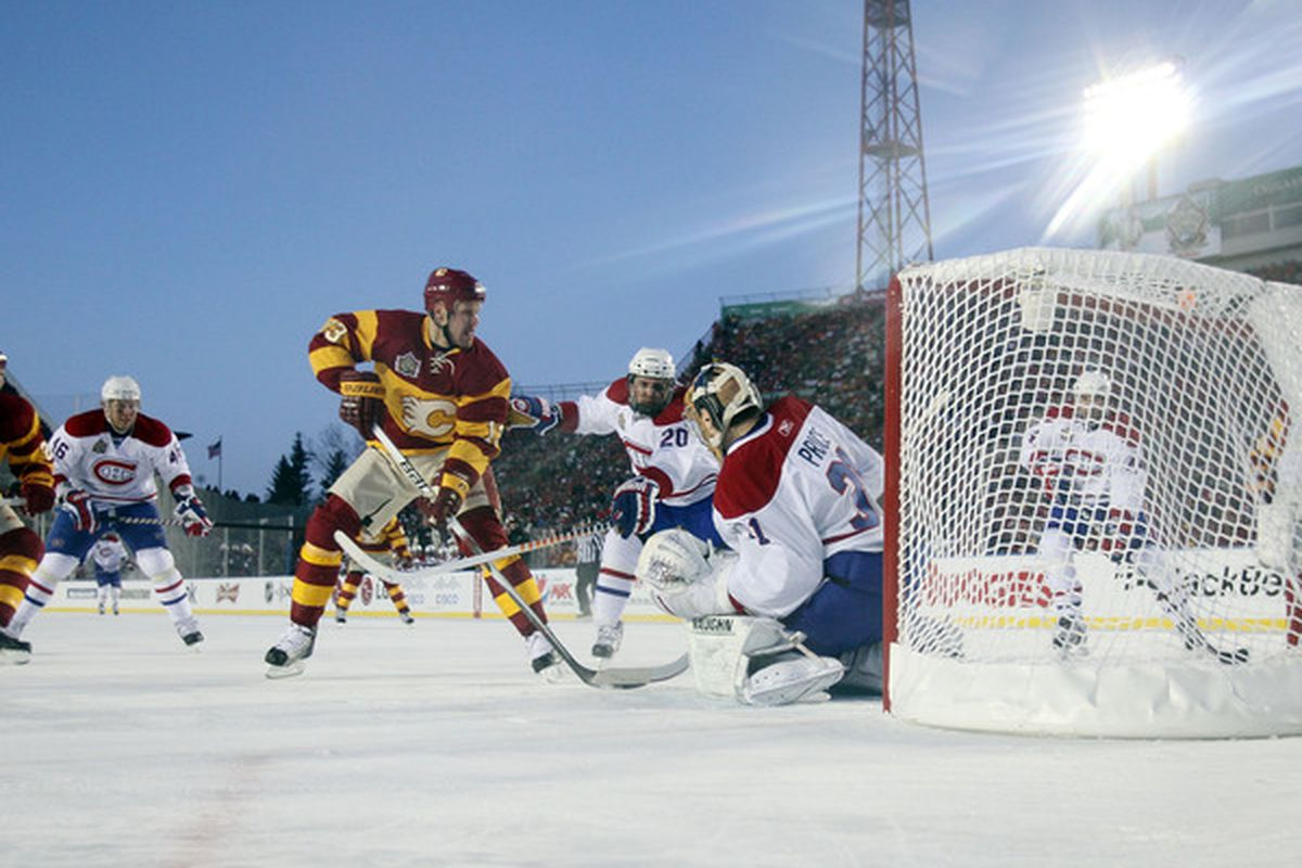 Hockey, like hockey journalism, is at its best when it's starts at the beginning: Outside.