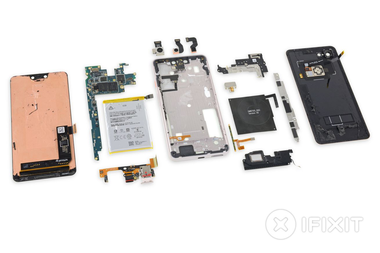 ifixit s teardown of the pixel 3 confirms the display is supplied by samsung