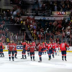 Capitals Salute the Fans