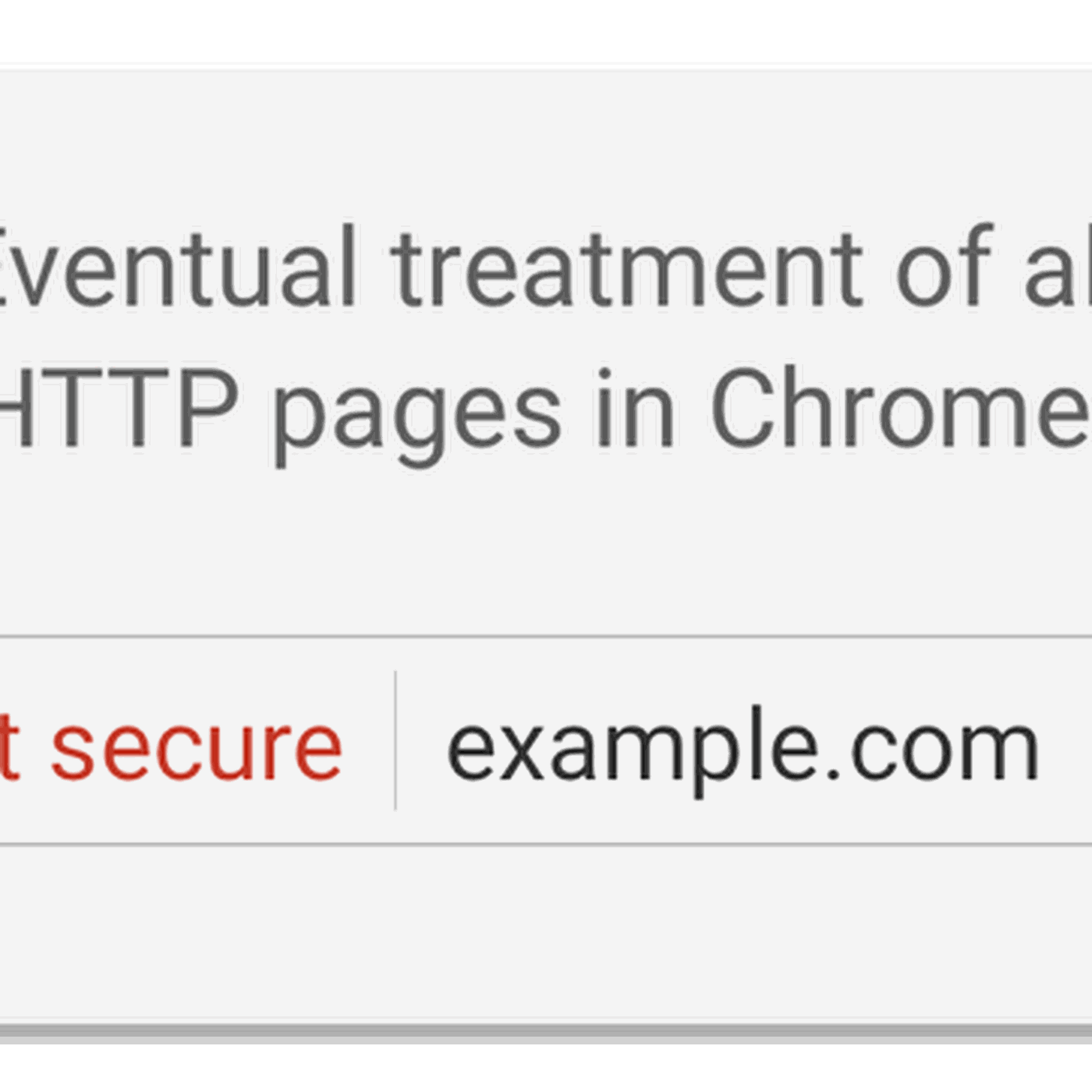 Google Chrome is removing the secure indicator from HTTPS
