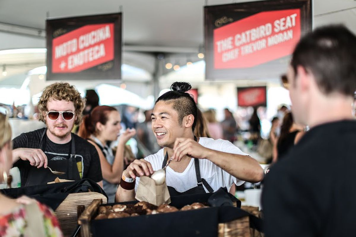 Trevor Moran (left) at last year's Music City Food and Wine Festival.