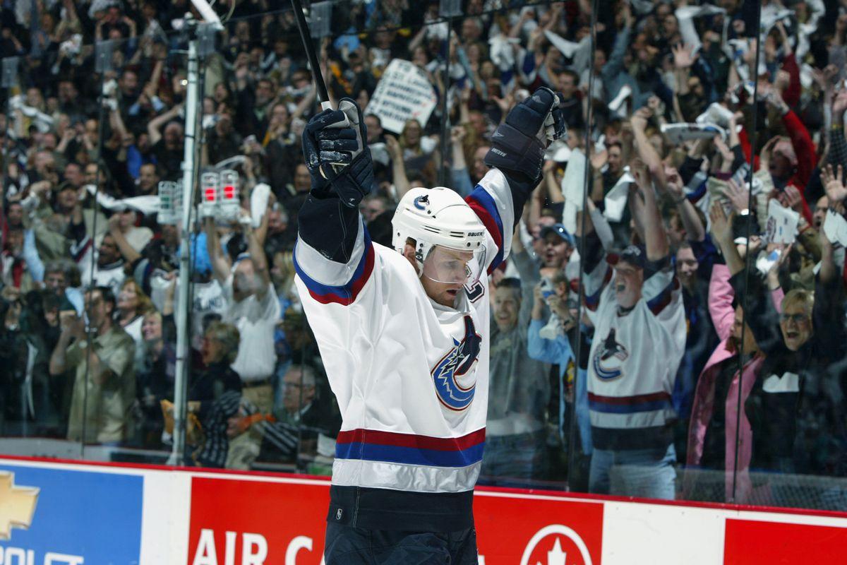 Naslund celebrates goal