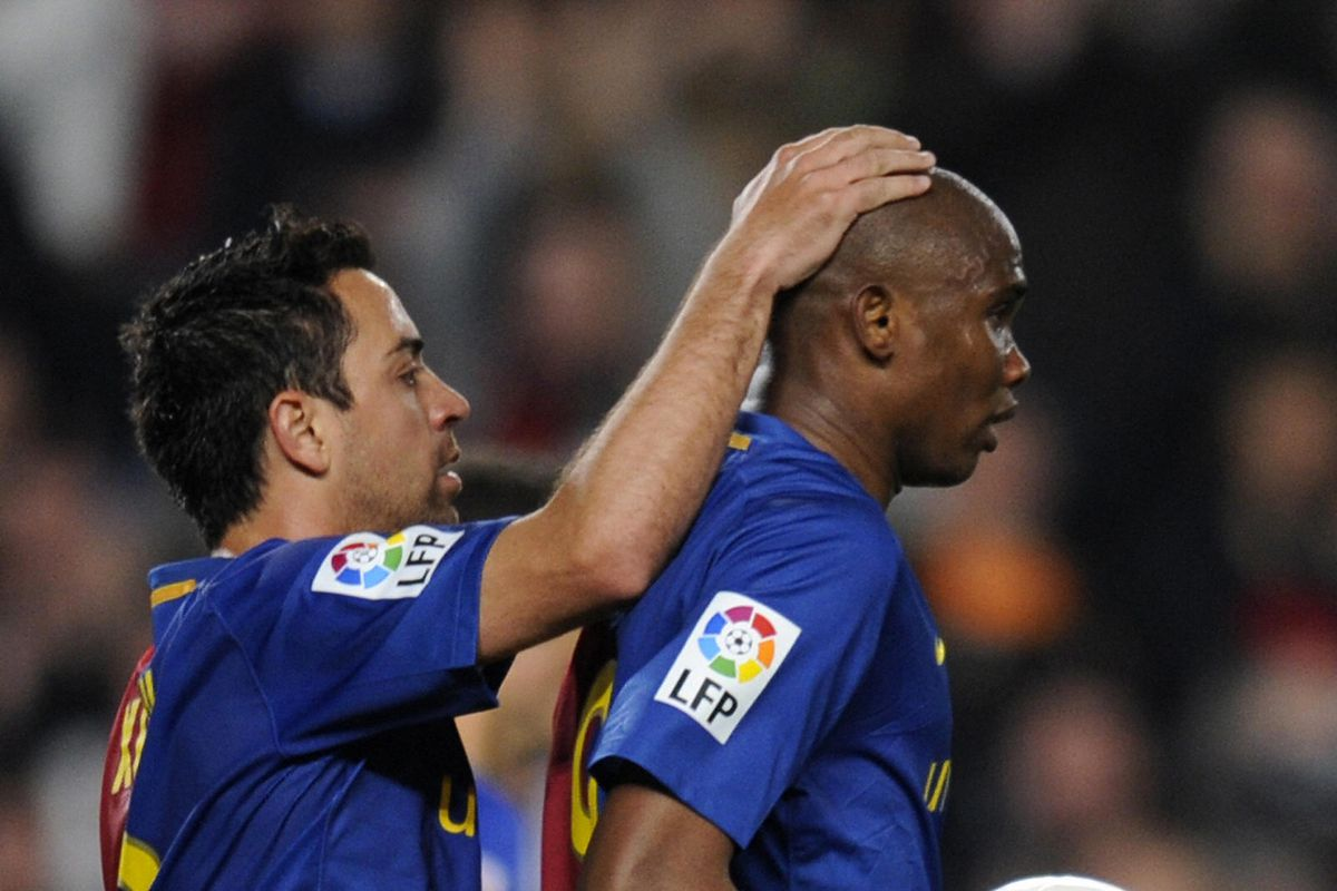 Samuel Eto'o on Xavi: 'If he doesn't end up coaching Barca, I'll kill him!'