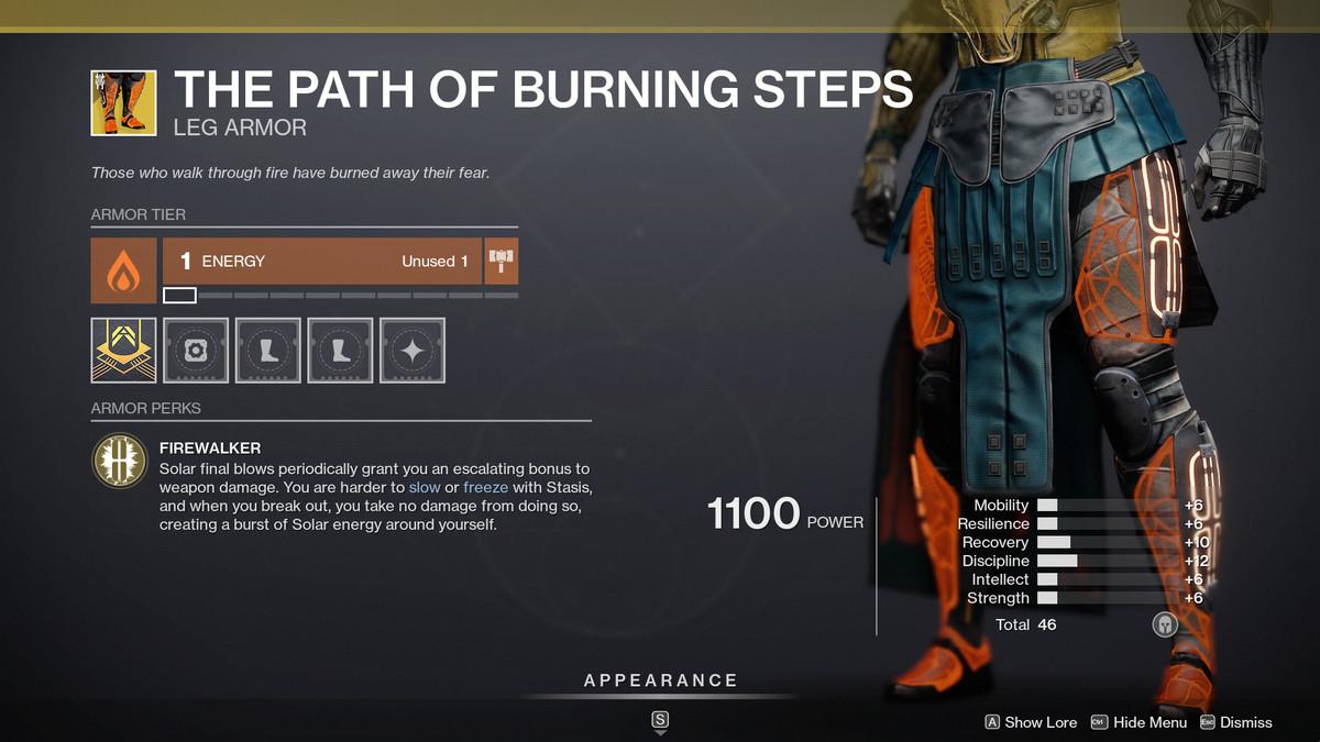 Destiny 2 Season of the Splicer El camino de los escalones ardientes Titan Exotics
