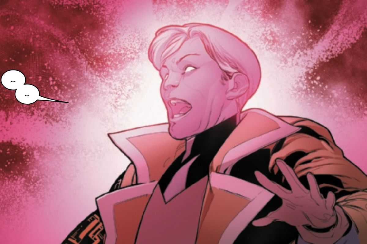 Doug Ramsey/Cypher recoils from the magnitude of Professor X's psychic download in Powers of X #4, Marvel Comics (2019).