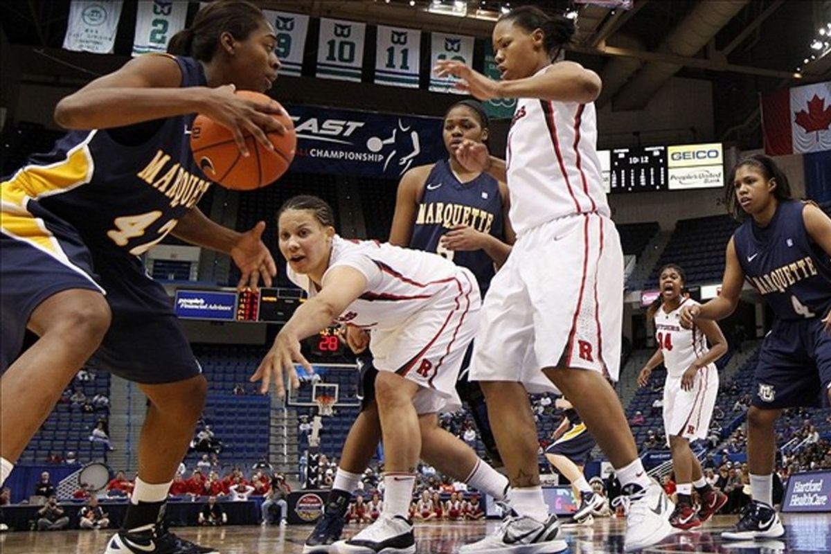Sarina Simmons (42) has been coming on strong lately for Marquette.