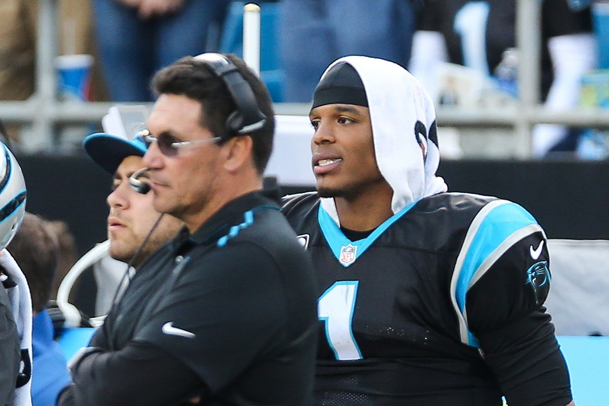 7da39ec8d6a Riverboat' Ron Rivera rolling the dice by playing Panthers starters ...