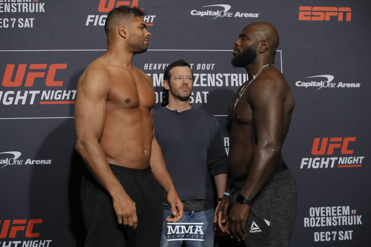 Ufc On Espn 7 Results Overeem Vs Rozenstruik Mma Fighting