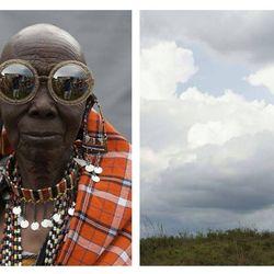 Rason, a Maasai beader, in the Orbit Filigree in Gold Glitter. Photos by Derek Henderson for Karen Walker.