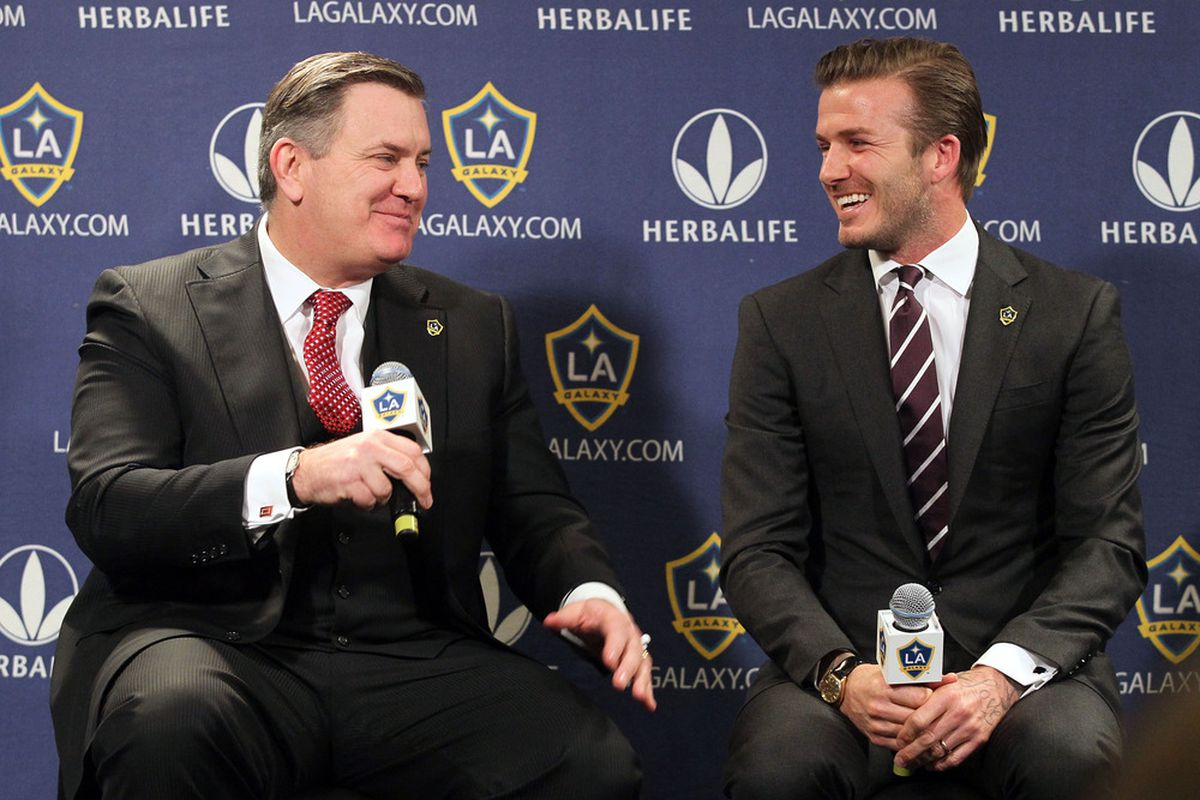 Tim Leiweke, left, promises to bring a DP like David Beckham or Robbie Keane (not pictured) to Toronto FC.
