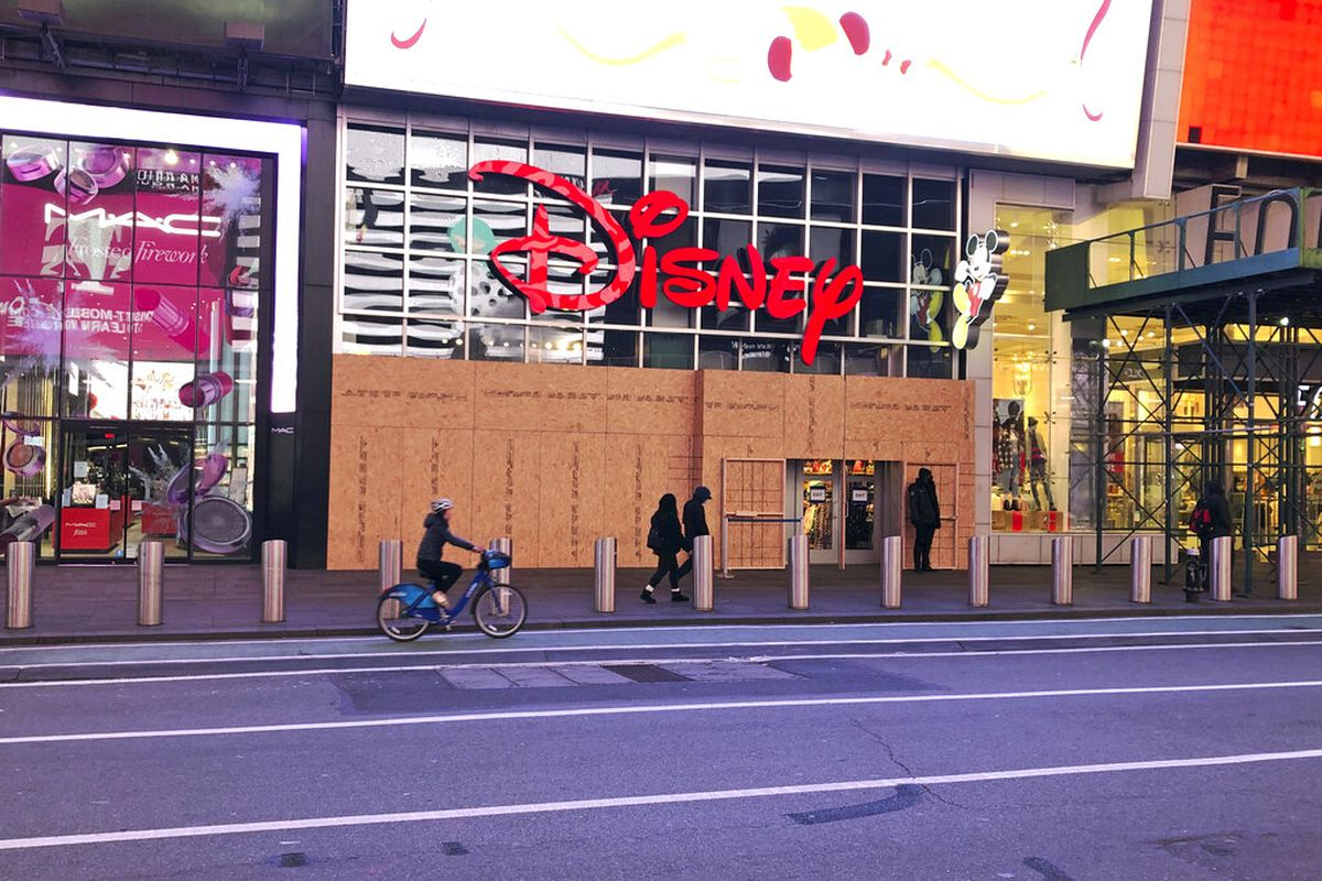 A Disney Store in Times Square in New York.