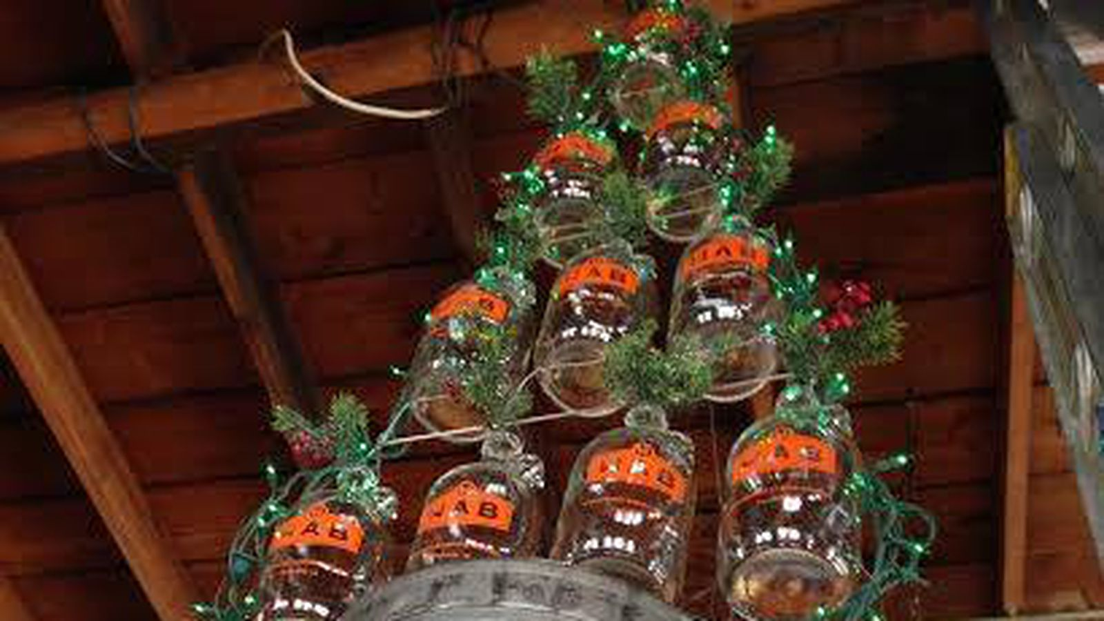 Beer-Themed Christmas Tree Replaces Flood-Damaged