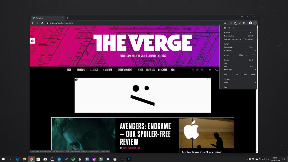 How to enable Google Chrome's new dark mode on Windows 10 - The Verge
