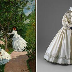 Claude Monet. Women in the Garden, 1866; Day Dress, 1862–64, The Metropolitan Museum of Art, New York