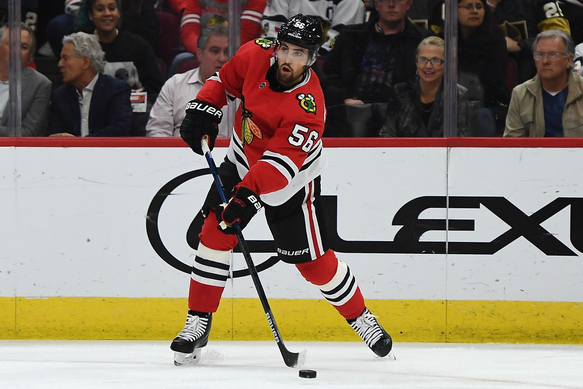 Defenseman Erik Gustafsson's offensive production declined in his fourth and final season with the Blackhawks.