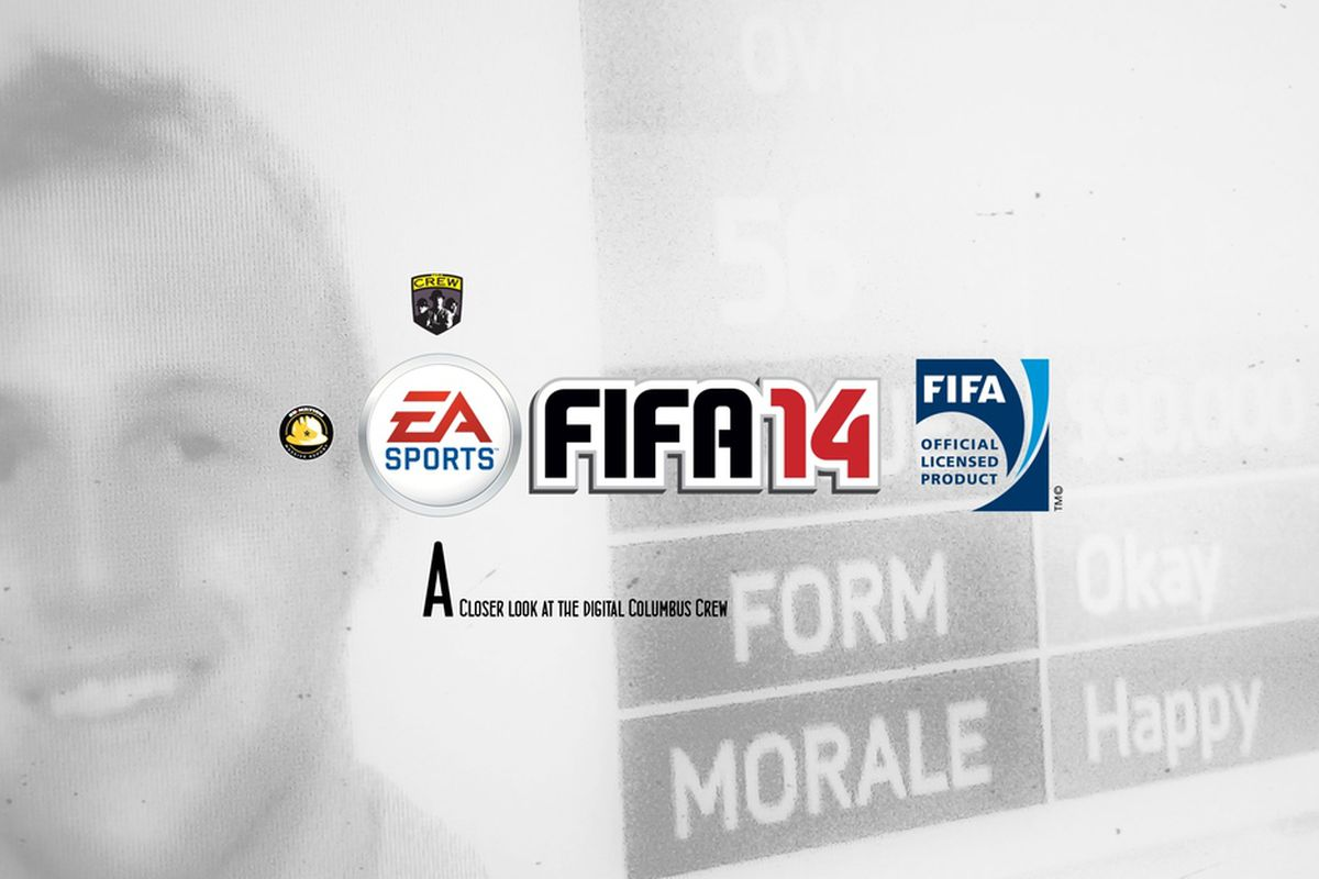 EA FIFA 14 logo with Kyle Hyland in Background