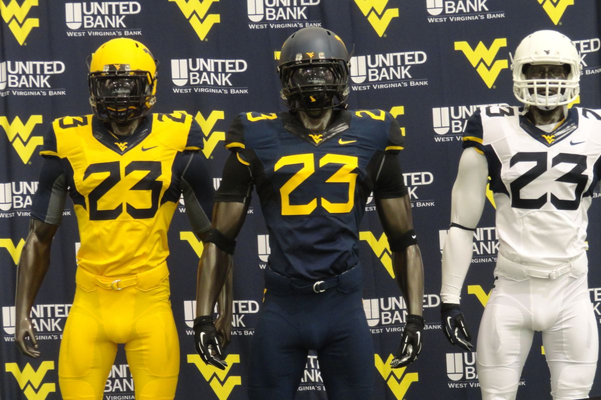 Image result for wvu yellow jersey