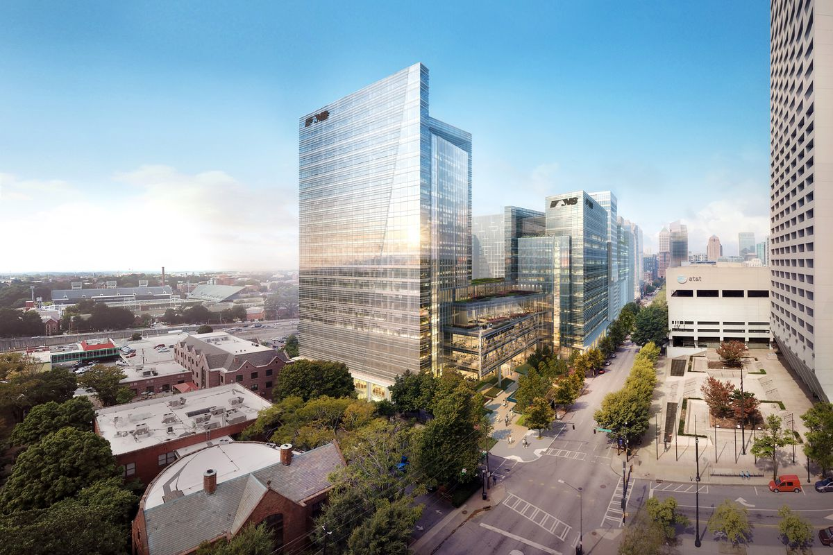 A rendering of the planned hq development.
