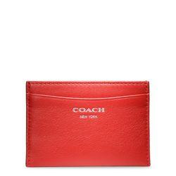 "<a href=""http://www.coach.com/online/handbags/ProductDetailWrapperView?storeId=10551&catalogId=10051&langId=-1&partNumber=48010_svaqc&cid=D_B_RAC_2950"">Legacy Leather Card Case</a> in carnelian, $38"
