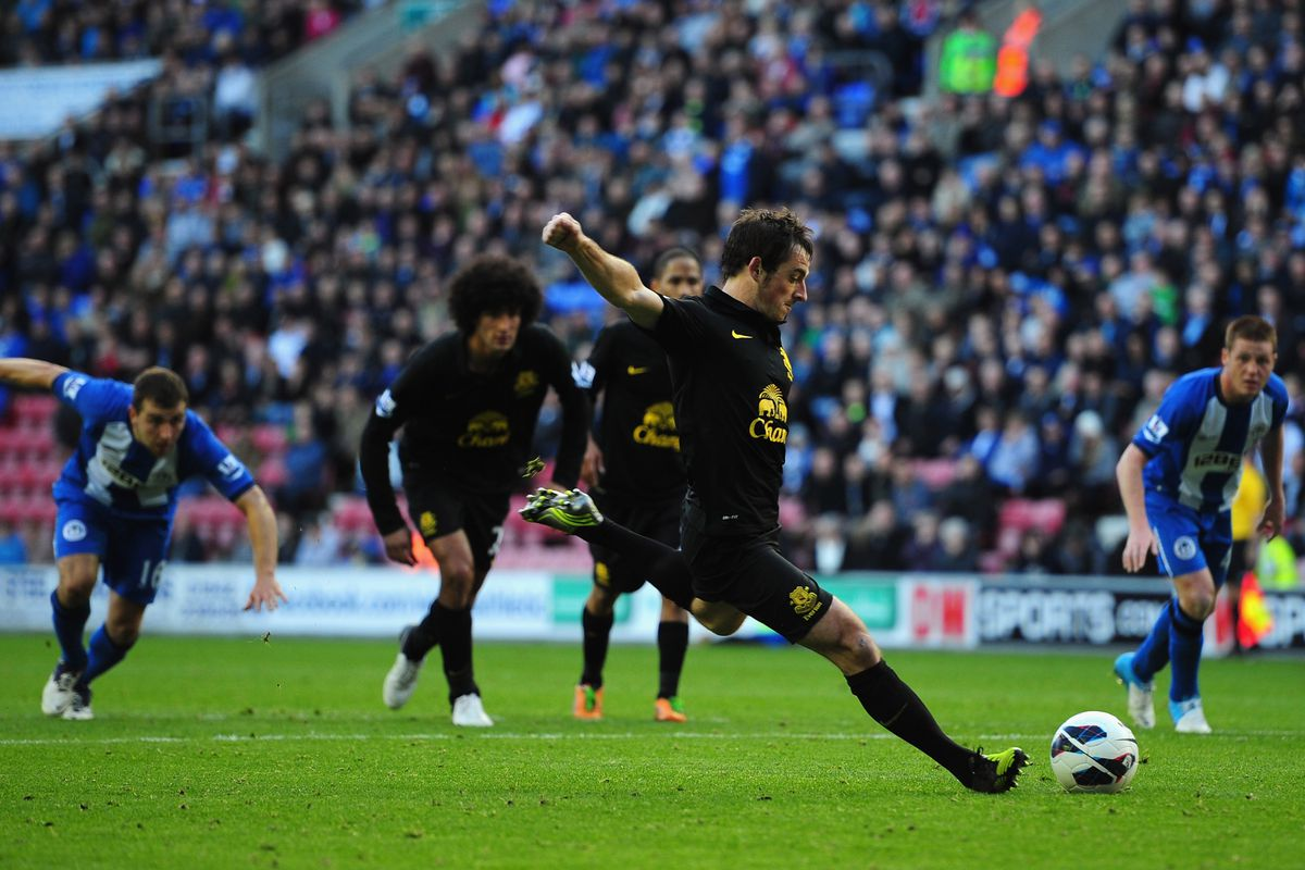 Baines scored a late equalizer against his old team in the first leg of this fixture