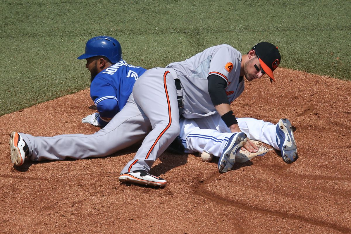 The only way the Orioles could slow the Jays down, lay on top of them.