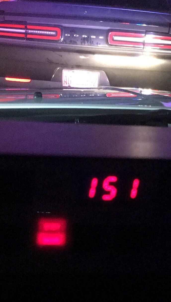 <br>The speed clock inside an Indiana State Police squad car shows the speed at which a Dodge Challenger was going early Friday on the Indiana Toll Road. At one point it was clocked at 158 mph. | Indiana State Police