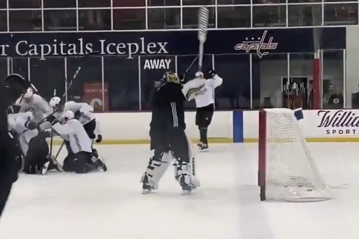 I have no idea what happened at Bruins practice today, but it rules