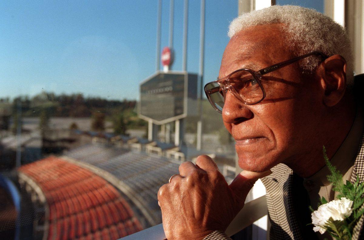 SP.Negro League.3.0311.GF.8. John (Buck) O'Neil, former baseball player with Kansas City of Negro Le