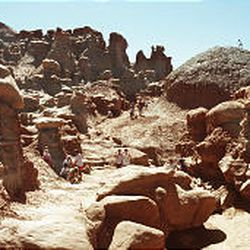 """Goblin Valley State Park features rock formations called """"hoodoos."""""""