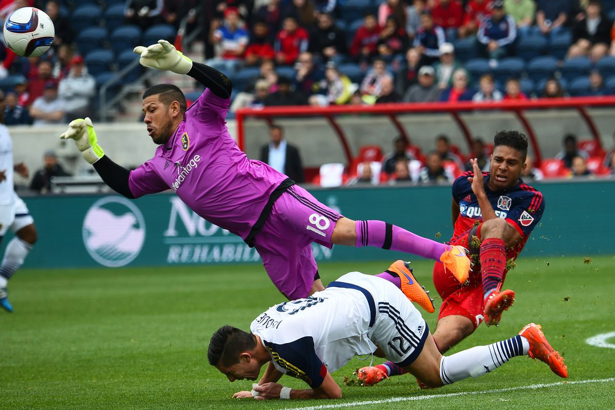 Nick Rimando made some great saves Saturday, but the Fire failed to test him enough.