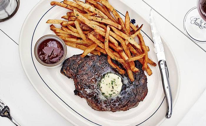 Steak frites at Josephine House