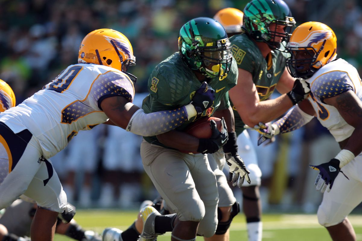 Your leading rusher from Saturday, Byron Marshall.
