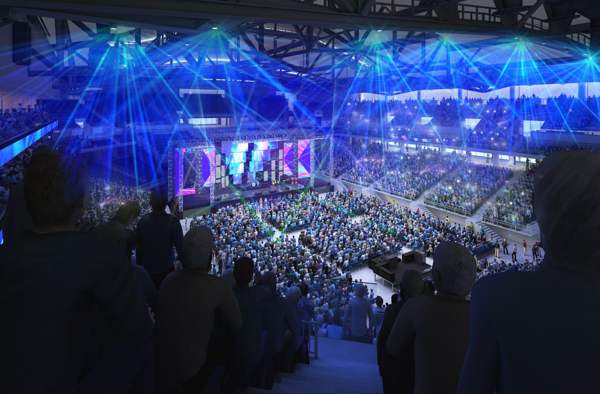 Artists rendering of new Wintrust Arena in a concert configuration.   Provided