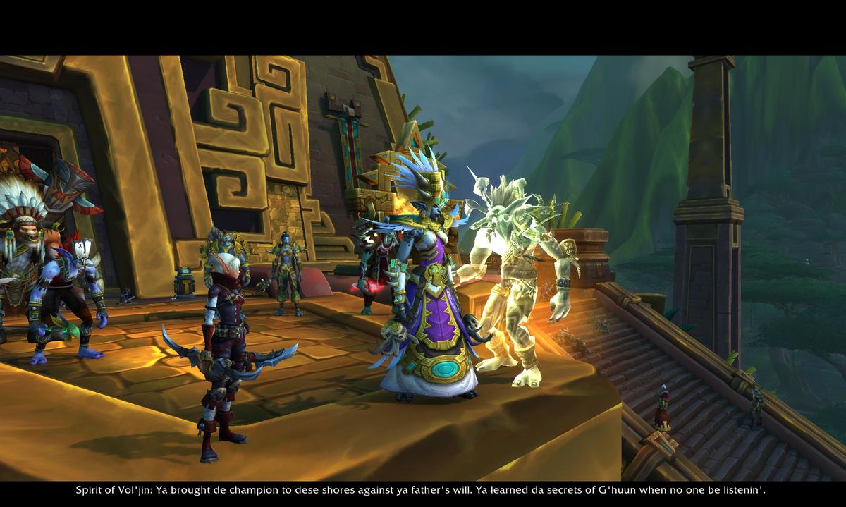 The player, Princess Talanji, and Vol'Jin address Atal'Dazar.