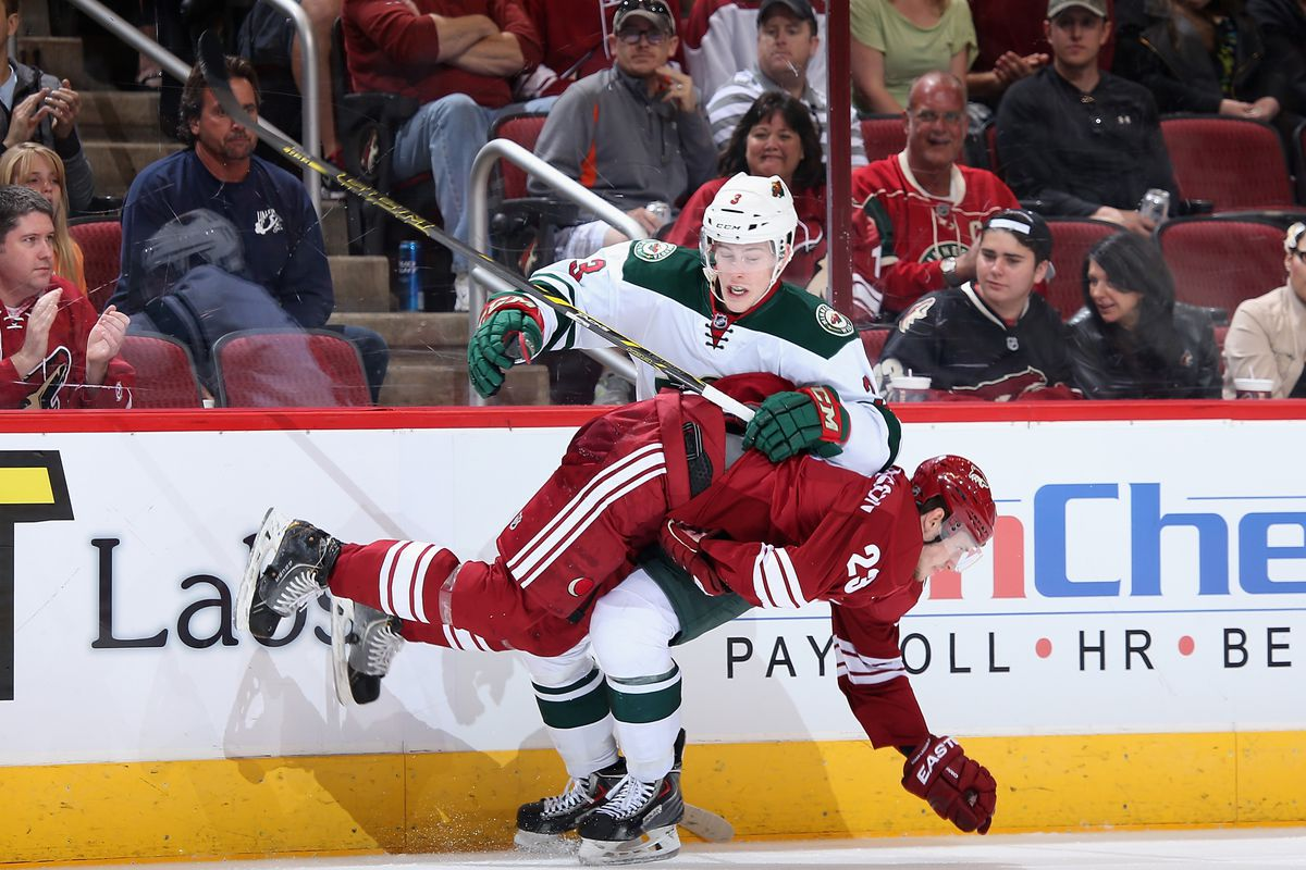 Armed with a New Deal, Coyle will take the ice against Arizona tonight.