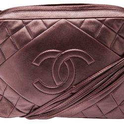 <b>Chanel</b> '80s vintage metallic quilted tassel bag, $2950.