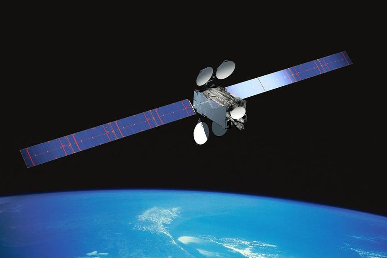 <em>An artistic rendering of Intelsat 29e in orbit</em>