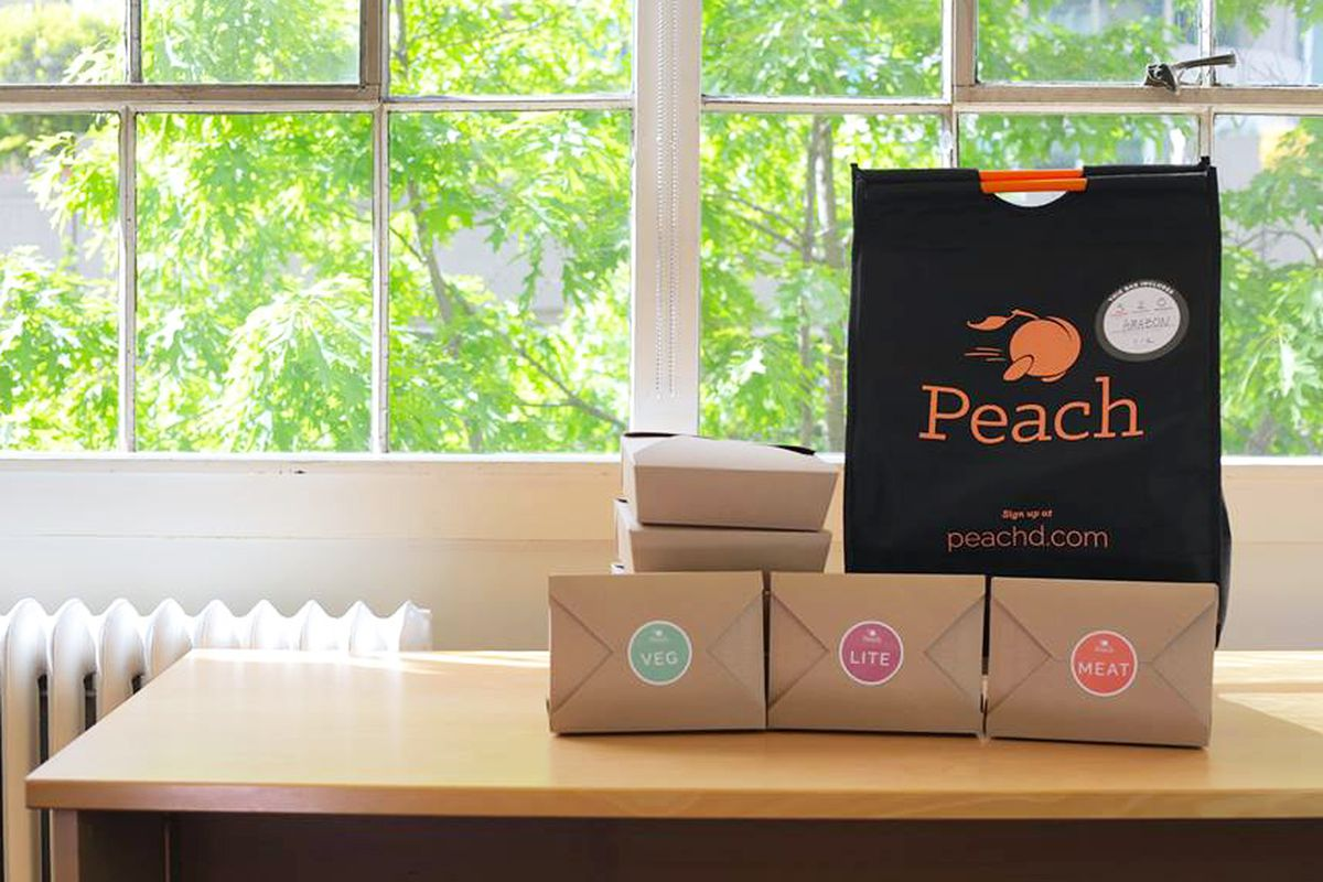 West Coast Lunch Delivery Service Peach