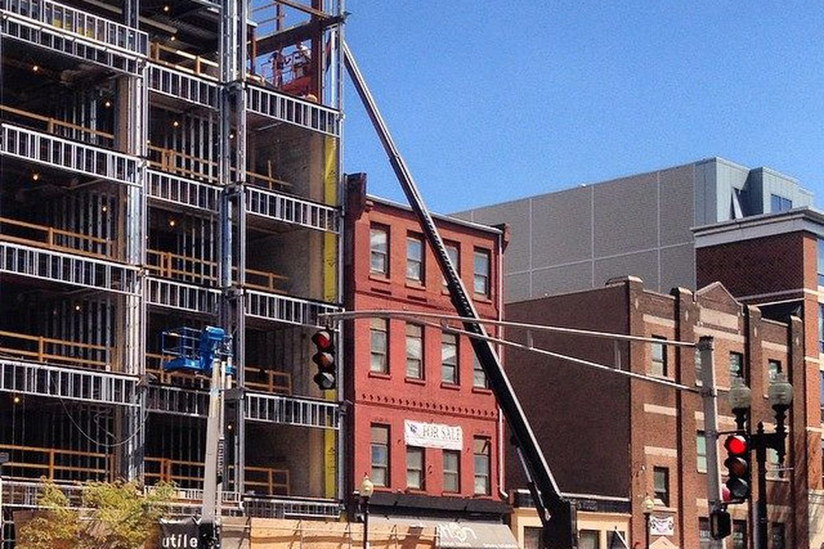 Worden Hall will open at 26 W. Broadway, a mixed-use development under construction.